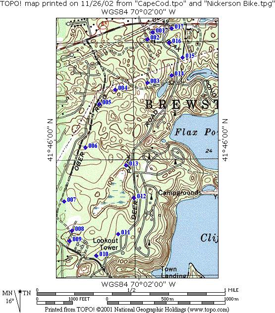Cape Cod Trails: Nickerson State Park Site Map At Usa Maps