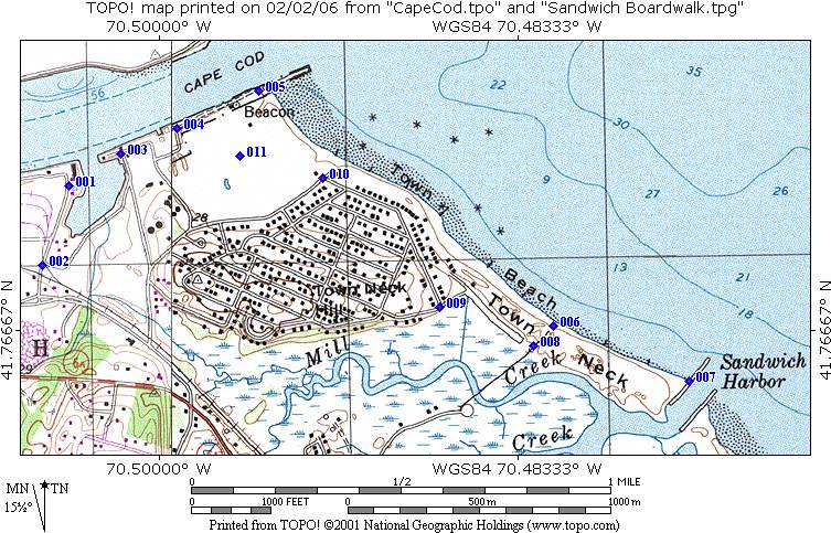 Awesome Cape Cod Elevation Map Part - 7: Sandwich Short Walks On Cape Cod Sandwich Boardwalk Topo Map